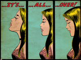 Marvel Comics Retro: Love Comic Panel, Crying, It's All Over! (aged) Affiches