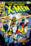 Uncanny X-Men No.126 Cover: Wolverine, Colossus, Storm, Cyclops, Nightcrawler and X-Men Fighting Kunstdruck von Dave Cockrum