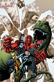 Avengers Academy No.12 Cover: Striker, Veil, Hazmat, Finesse, Mettle, and Reptil PosterMike McKone