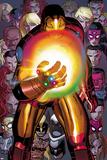 Avengers No.12: Iron Man with the Infinity Gauntlet Bilder av John Romita Jr.
