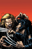 Wolverine No.15 Cover: Wolverine and Sabretooth Posters by Darick Robertson