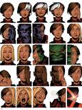 Uncanny X-Men 14 Cover: Deeds, Benjamin, Tempus, Frost, Emma, Stepford Cuckoos, Hulk, Beast Posters av Chris Bachalo