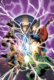 Avengers & The Infinity Gauntlet No.1 Cover: Ms. Marvel, Hulk, Wolverine, Spider-Man, and Thanos Posters av Humberto Ramos