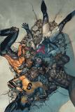 Avengers 14 Cover: Sunspot, Cannonball, Wolverine, Smasher Poster av Leinil Francis Yu