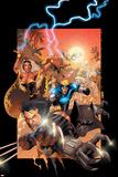 X-Men No.175 Cover: Wolverine, Storm, Black Panther, Havok, Iceman and X-Men Kunstdrucke von Salvador Larroca