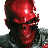 Vengeance No.5 Cover: Headshot of Red Skull Affiches par Gabriele DellOtto