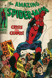 Marvel Comics Retro: The Amazing Spider-Man Comic Book Cover No.68, Crisis on Campus (aged) Posters