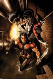 Uncanny X-Men No.488 Cover: Storm, Nightcrawler and Thunderbird Posters av Salvador Larroca