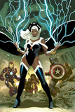 Avengers No.21 Cover: Storm, Captain America, and Iron Man Poster di Daniel Acuna
