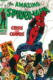 Marvel Comics Retro: The Amazing Spider-Man Comic Book Cover No.68, Crisis on Campus Prints