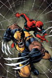 Savage Wolverine 6 Cover: Spider-Man, Wolverine Posters af Joe Madureira