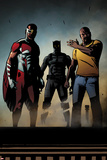 Black Panther: The Most Dangerous Man Alive No.526: Falcon, Black Panther, and Luke Cage Plakater av Shawn Martinbrough