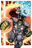 Indestructible Hulk 8 Cover: Thor, Hulk Photo by Walt Simonson
