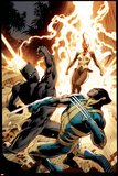 Wolverine 8 Cover: Wolverine, Storm, Black Panther Affiche par Alan Davis