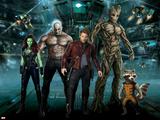 Guardians of the Galaxy - Rocket Raccoon, Draxm Star-Lord, Gamora, Groot Poster
