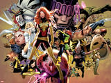 Uncanny X-Men No.544: Dark Phoenix, White Queen, Apocalypse, Sentinel, Magneto, Storm, Wolverine Prints by Greg Land