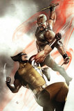 X-Men No.2 Cover: Wolverine and Blade Fighting Billeder af Adi Granov