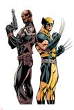 Wolverine 3 Cover: Nick Fury, Wolverine Affiche par Alan Davis