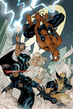 X-Men No.7 Cover: Spider-Man, Cyclops, Wolverine, Storm, and Emma Frost Plakater av Terry Dodson