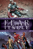 Fear Itself No.6 Cover: Captain America, Iron Man, Spider-Man, Wolverine, Spider Woman and Hawkeye Posters by Steve MCNiven