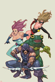 Spider-Island: Avengers No.1: Hawkeye, Ms. Marvel, Jessica Jones, and Frog-Man Posters av Leinil Francis Yu