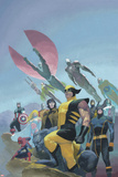 House of M MGC No.1 Cover: Wolverine, Cyclops, Gambit, Spider-Man, Captain America and Others Prints by Esad Ribic