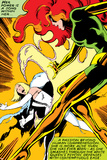 Marvel Comics Retro: X-Men Comic Panel, Phoenix, Emma Frost, Fighting Stampe
