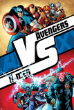 AVX No.1 Cover: Cyclops, Storm, Magneto, Colossus, Emma Frost, Captain America and Others Plakater av Adam Kubert