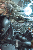 Black Panther: The Man Without Fear No.520 Cover: Black Panther and Storm Kunstdrucke von Simone Bianchi