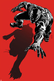 Black Panther: The Most Dangerous Man Alive No.523.1 Cover: Black Panther Crawling Kunstdrucke von Patrick Zircher