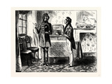 Charles Dickens Sketches by Boz When He First Came to Look at the Lodgings Lámina giclée por George Cruikshank
