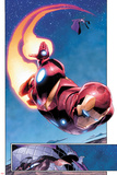 AVX: Vs No.1: Panels with Iron Man Flying Posters by Adam Kubert