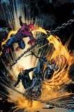Amazing Spider-Man and Ghost Rider: Motorstorm No.1 Cover Plakater av Roberto De La Torre