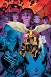 X-Men: Battle of the Atom 1 Cover: Jean, Iceman, Beast, Angel, Wolverine, Storm, Hayes, Molly Posters por Arthur Adams