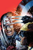 Avengers vs X-Men No.3 Cover: Captain America Fighting Wolverine Plakater af Jim Cheung