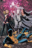 Uncanny X-Men 12 Cover: Magneto, Frost, Emma, Cyclops, Grey, Jean Plakat av Arthur Adams