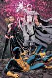 Uncanny X-Men 12 Cover: Magneto, Frost, Emma, Cyclops, Grey, Jean Pôsteres por Arthur Adams