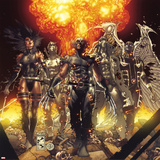Fear Itself: Uncanny X-Force No.1 Cover: Wolverine, Psylocke, Fantomax, Archangel, and Deadpool Poster di Simone Bianchi