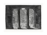 Veduta interna del Pantheon Affiches par  Piranesi