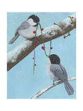 Chickadee Christmas IV 2-Up Affiches par Grace Popp