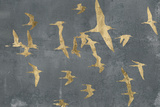 Silhouettes in Flight IV Poster by Jennifer Goldberger