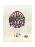 Vintage Hot Air Balloons I Reproduction giclée Premium par Naomi McCavitt