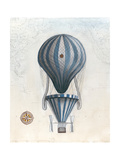 Vintage Hot Air Balloons IV Premium Giclee Print by Naomi McCavitt