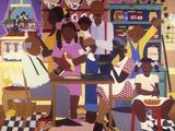 Old Fashioned Dinner Posters av Varnette Honeywood