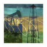 Oil Rig and Oil Well Collage Posters av Sisa Jasper
