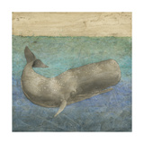 Diving Whale II Metal Print by Megan Meagher