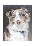 Bogan Australian Shepherd Kunstdrucke von Edie Fagan