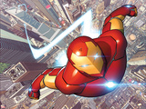 Invincible Iron Man 1 Cover Featuring City, Skyscrapers Plakater af David Marquez