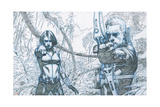 Avengers Assemble Pencils Featuring Black Widow, Hawkeye Stampe