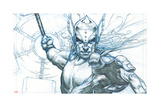 Avengers Assemble Pencils Featuring Thor Affiches